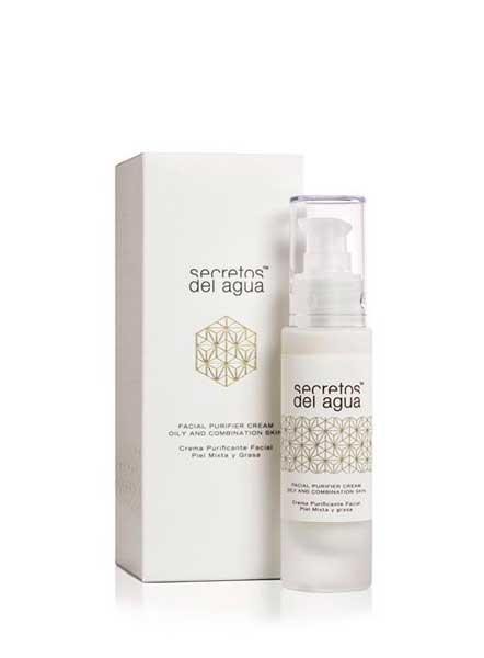 Crema purificante facial piel mixta y grasa secretos del agua e-tiendas